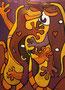 Lizard in Love, 60x80 cm, Acryl
