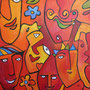 Faces 2004, 120 x 120 cm, Acryl   •   CHF 3 300.--