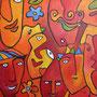 Faces 2004, 120 x 120 cm, Acryl
