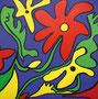 Fieldflowers, 120 x 120 cm, Acryl