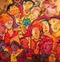 Faces 2012, 80 x 80 cm, Acryl