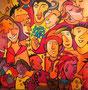 Faces 2012, 80 x 80 cm, Acryl   •    CHF 3 000.--
