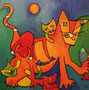 Cat Fish, 100 x 100 cm, Acryl   •   CHF 3 400.--