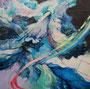 《Life-5》2010 S100(162.0×162.0cm) 油彩、綿布、パネル 茨城二紀支部展 奨励賞