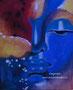 Buddha - aquarelverf op canvas - 40x55cm - maart 2013 - origineel niet te koop - repro