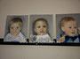 Portretjes - olieverf op canvas - 3x 30x24cm - 2015 - niet te koop