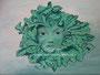 Groene vrouw - acrylverf op canvas - 40x30cm - sept.2012 - te koop