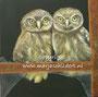Uilskuikens - acrylverf op canvas - 50x50cm - mei 2013 - origineel niet te koop - repro