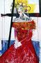 Lady Di, Mischtechnik auf Papier, 112 x 175cm , 1997