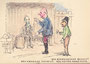 Zeichnung aus Tripytchon: Der Bürgermeister, Suskewiet und seine drei Schafe