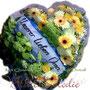 Blütenherz groß mit Trauerschleife, gefüllt