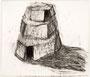 """""""Turm"""", 2001, Zeichenkohle auf  Leinwand, 210 X 245 cm, Henning Bertram, WVNr. 914 (Datei img1278.jpg)"""