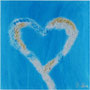 Heart in Light Blue, 20x20 cm