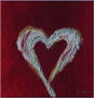 Heart in Red, 20x20 cm