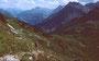 Abstieg vom Toblermannskopf zum Schadonapass und zur Biberacher Hütte