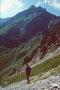 Abstieg vom Toblermannskopf zur Unteren Gautalpe