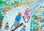 「スキー」 キム・ユイ 東京朝鮮第三初級学校