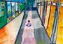 「千葉学校の廊下」 リュ・ユウォン 千葉朝鮮初中級学校