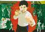 「悪いやつと戦う初6男子」 リ・フィソン 長野朝鮮初中級学校
