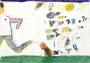「入学-襲ってくる恐怖」 リ・ナミョン 東大坂朝鮮中級学校