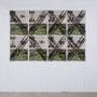 Kirchner-Kreuz (Kunstzeitung) 2013 Kohle, Offsetdruck 126 x 187,5 cm
