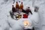 Liebevoll eingerichtete Weihnachts-Bar