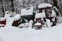 Auch am Startort beim Werkhof Scheidegger hat es viel Schnee