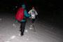 In der Region Stierenberg traversieren wir ein tieferes Schneefeld