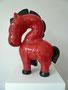 Happy Horse, 2013, Keramik, Ansicht von links, Höhe ca. 42 cm, Länge ca. 30 cm