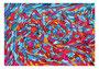 15:  NALU – Freies Zusammenspiel in Harmonie / 2013 / Acryl auf Papierkarton / 100x70 / Original: CHF 2'000