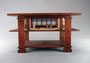 A 1/12 scale table in the style of the Boynton Hall Table from Frank Lloyd Wright. Private collection.