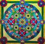 MANDALA Acryl auf Leinwand 130 x 130