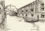 Rysunek tuszem 20x14cm Venezia