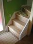 ロフトへの木製階段