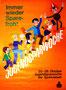 Weltspartag, Jugendsparwoche der Sparkassen, um 1962. Sparefroh mit Kindern und Jugendlichen. Plakat von Heinz Traimer.