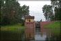 Portage am Wasserkraftwerk