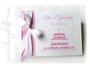Mein 1. Geburtstag Foto-Gästebuch weiß rosa mit Geburtstagstorte