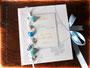Maritimes Gästebuch zur Hochzeit in weiß, hellblau und silber - Eine Buchanfertigung nach den Vorstellungen von ڿڰ✿ M.D.  VIELEN DANK!