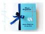 Fotoalbum zur Taufe Junge weiß, türkis, dunkelblau. Alle Details wie Farben, Format, Seitenanzahl, Symbole sind individualisierbar.
