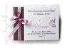 Foto-Gästebuch - 21cmx16cm, 20 Blatt weiß, mit individueller Grafik (Wunschtext, Schmetterling, Herzen) bedruckter Einband in den Farben weiß, dunkelbraun und rosé.