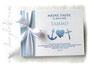 Foto-Gästebuch Glaube Liebe Hoffnung hellblau weiß marineblau selbst gestalten
