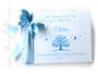 Gästebuch Taufe weiß hellblau
