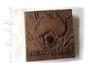 Fotoalbum Australien - 3D Gestaltung mit Schriftzug, Kontinent, Kompass mit Kette und Buchecken; Farbe antik-braun-schwarz, 100 Seiten elfenbeinfarben, Format 35cmx35cm