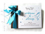 Gästebuch Taufe dunkelbraun weiß dunkeltürkis