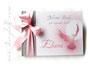 Gästebuch Taufe grau weiß rosa