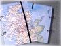 """Reisetagebuch """"Schottland"""" mit Metall-Buchringen, Buchgummi und transparenter Buchfolie. ڿڰ✿ DANKE an A.BF. aus G."""