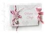 FotoGästebuch Taufe Mädchen in weiß, rosa, pink; mit Anker, Blumen, Perlen und Bändern.