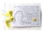 Gästebuch Geburtstag weiß hellgrau gelb