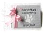 Foto-Gästebuch zum 1.Geburtstag - 21cmx16cm, 20 Blatt weiß, Einband weiß und hellgrau/meliert, Einbandgestaltung Tazte/Butterfly und Beschriftung Name, Titel, Datum in Form von Applikationen.