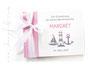 Foto-Gästebuch zur Taufe mit Leuchtturm, Segelboot und Anker; in weiß, hellgrau und pastell-rosa. Jede gewünschte Farbkombination möglich!
